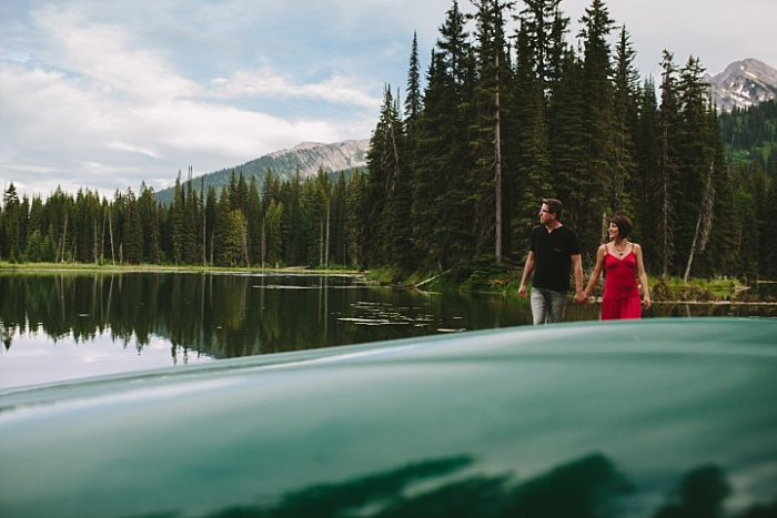 Engagement session in the Canadian rockies