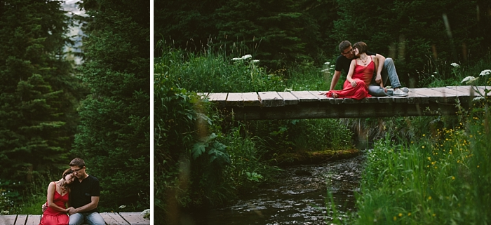 Island Lake Lodge, BC - engagement session photography, couple, love