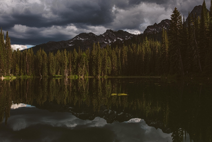 Landscape Photography, Island Lake Lodge, Fernie, BC, Reflections, dramatic light, last light, Canadian rockies